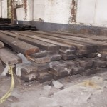 Reclaimed industrial beams
