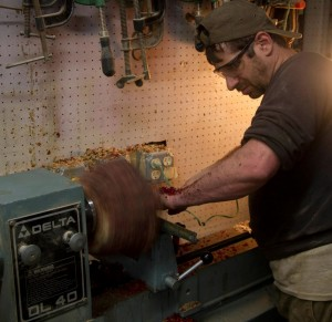 Eric Saperstein on Lathe