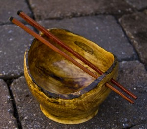 Spalted Maple Rice Bowl