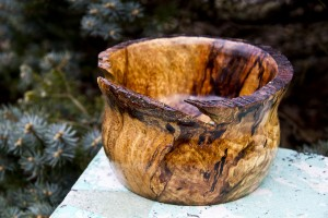 Spalted Copper Beach Vessel